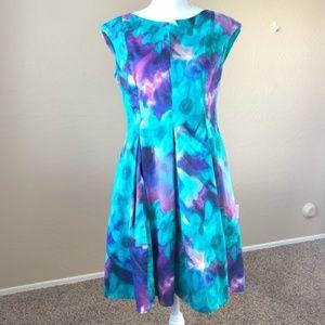 Eliza J. Floral Watercolor Princess Dress